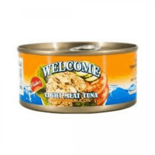 Welcome Light Meat Tuna in Vegetable Oil Flakes - 170g