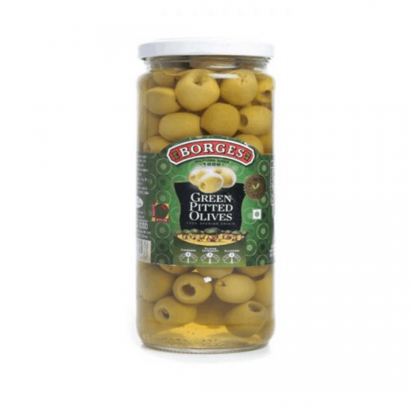 Borges Green Pitted Olives - 340g