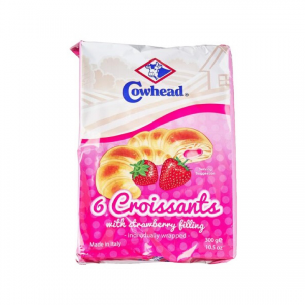Cowhead 6 Croissants With Strawberry Filling - 300g