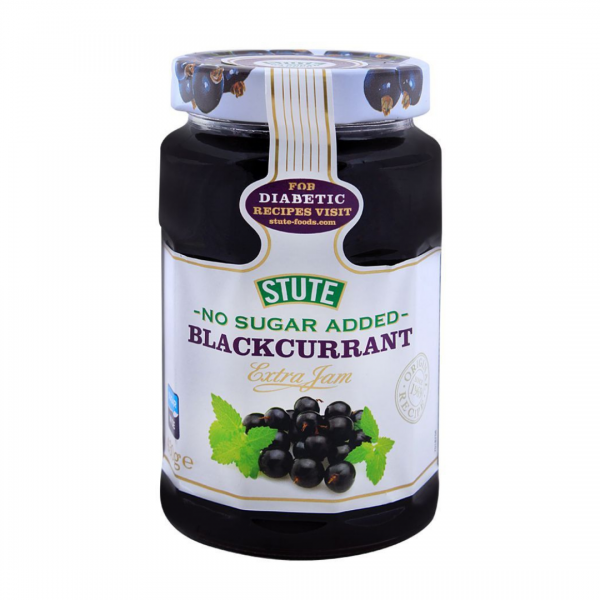Stute Blackcurrant Jam No Sugar Added (Diabetic Jam) - 430g