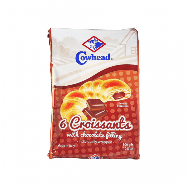 Cowhead 6 Croissants With Chocolate Filling - 300g