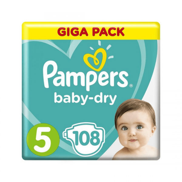 Pampers 5 Giga Pack - 108pcs