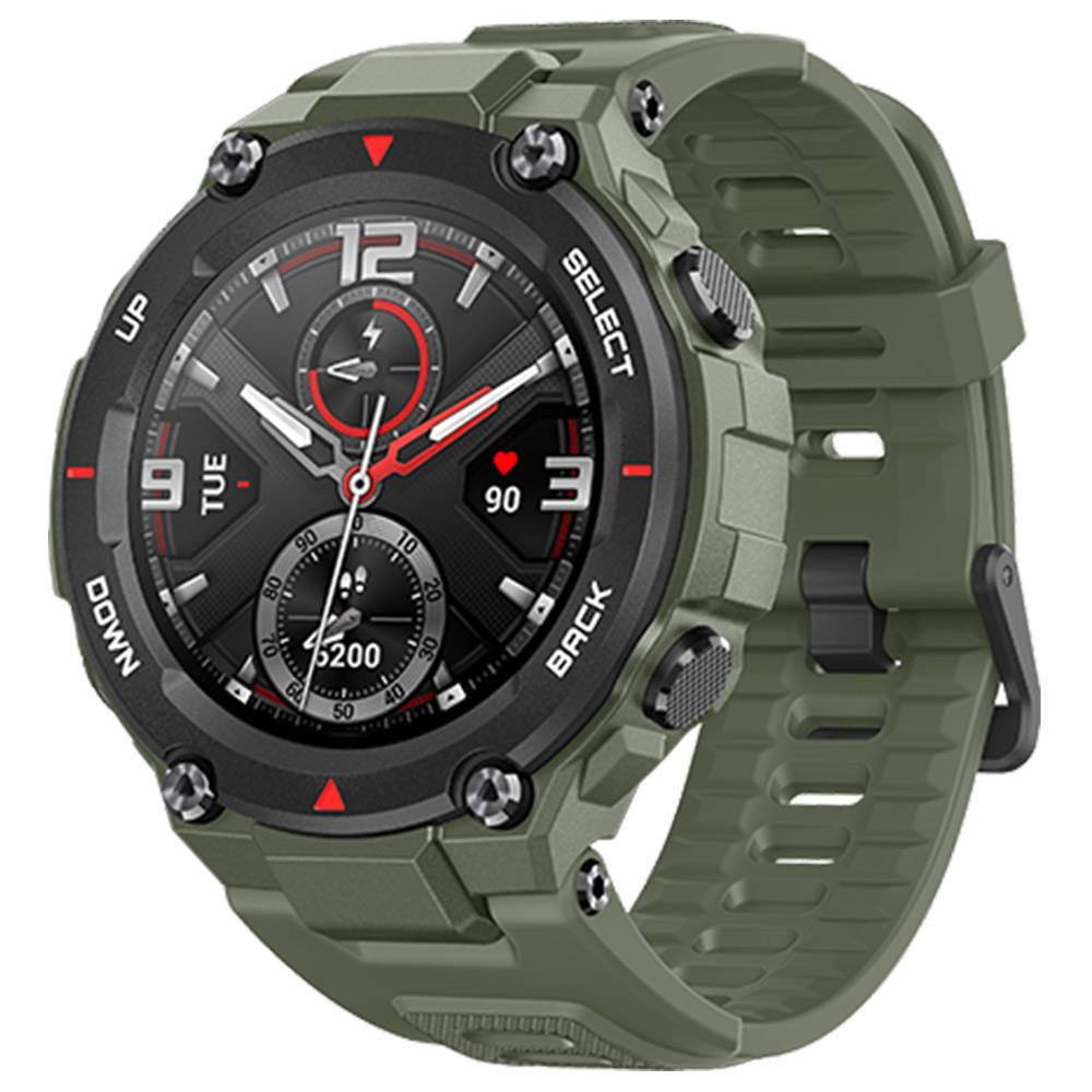 Amazfit T-Rex Smartwatch - Rock Black, Army Green