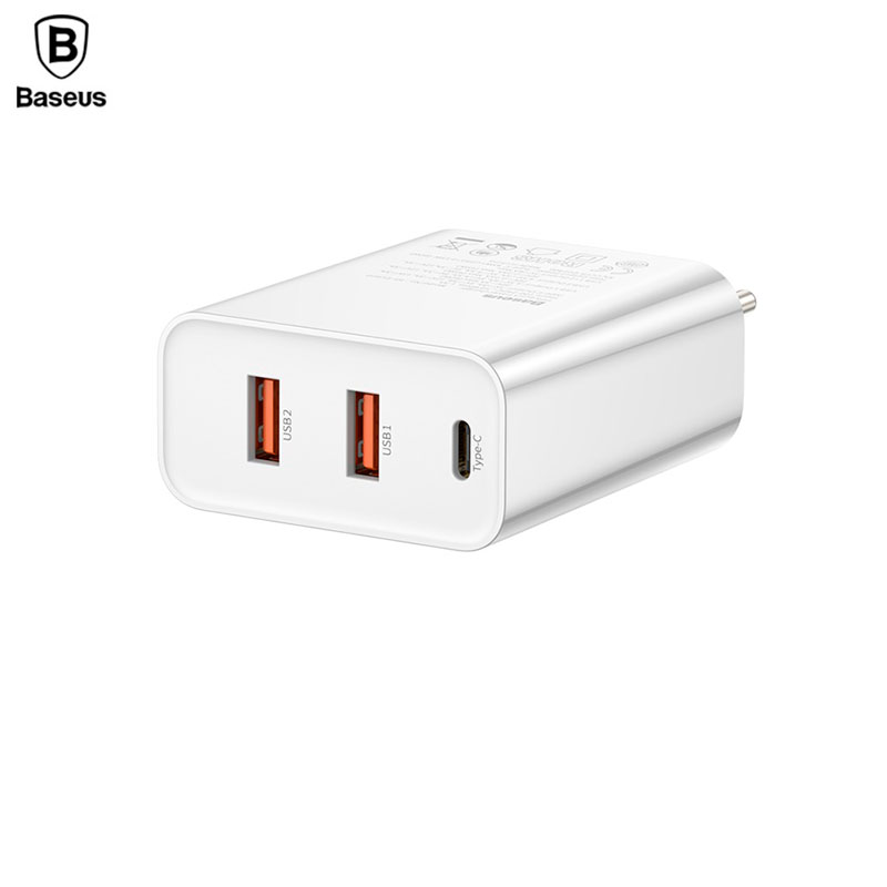 Baseus PPS Three Output Quick Charger (C+U+U) 60W EU White