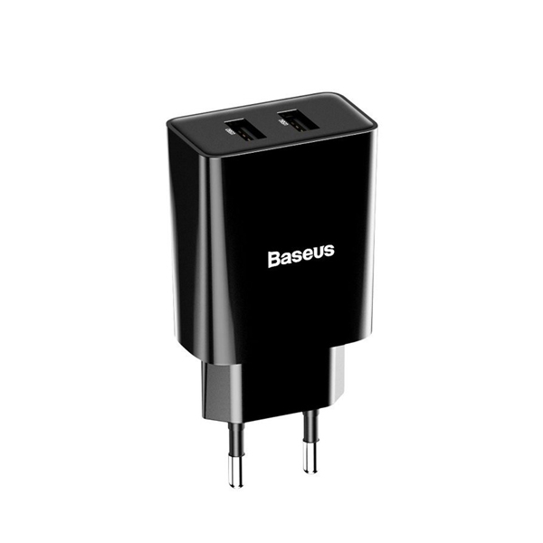 Baseus Speed Mini Dual U Charger 10.5W (EU) Black