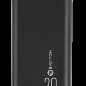 Baykron BA-PB-BLK-200 Power Bank 20,000MAH 2 USB Black