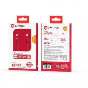 Baykron Cable Type C to Lightning 2 M Red