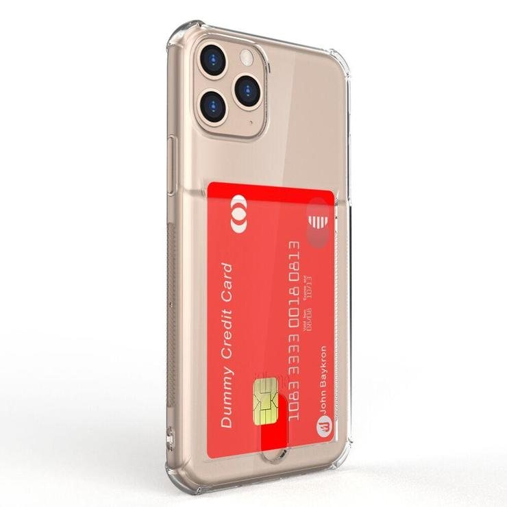 Baykron Clear Credit Card Case for Iphone 11 Pro