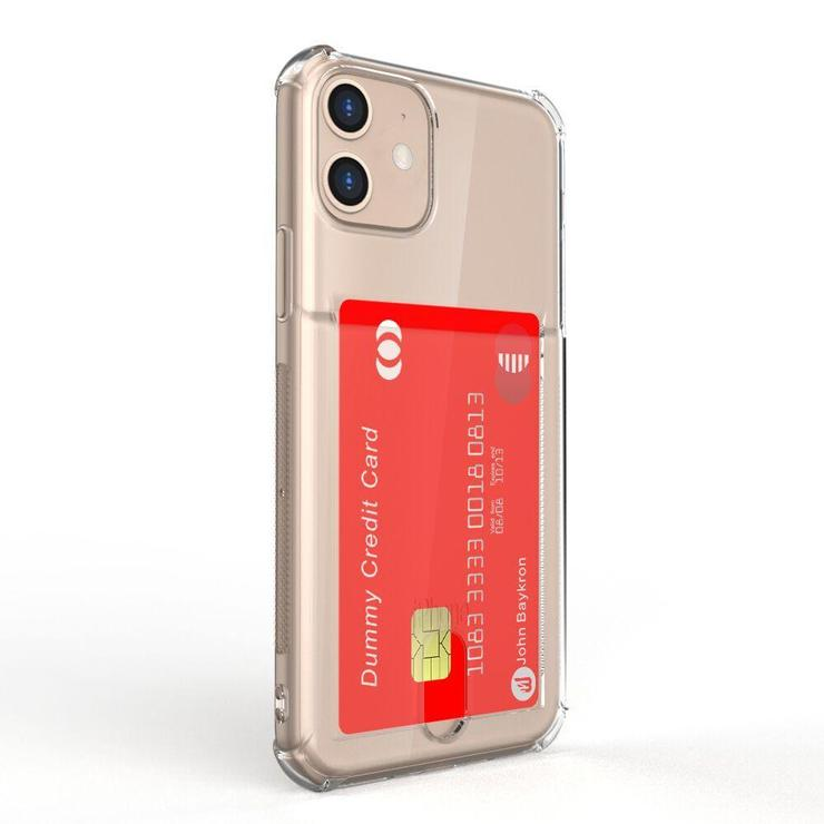 Baykron Clear Credit Card Case For New Iphone 11