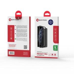 Baykron OT-IP12-5.4-P Antibacterial Privacy Tempered Glass NEW Iphone 12 Mini
