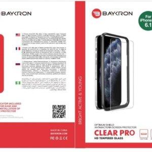 Baykron OT-IP12-6.1-2D Antibacterial Clear Temperd Glass NEW Iphone 12 / Iphone 12 Pro