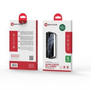 Baykron OT-IP12-6.1-3D Antibacterial Tempered Glass 3D NEW Iphone 12 / Iphone 12 Pro