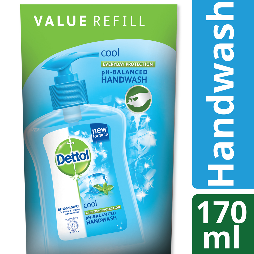 Dettol Handwash 170 ml Refill Poly Cool_1