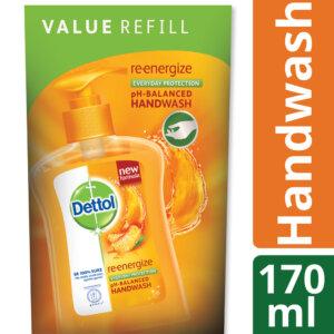 Dettol Handwash 170 ml Refill Poly Re-energize_1