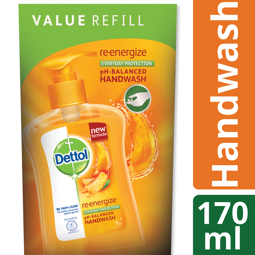 Dettol Handwash 170 ml Refill Poly Re-energize_1
