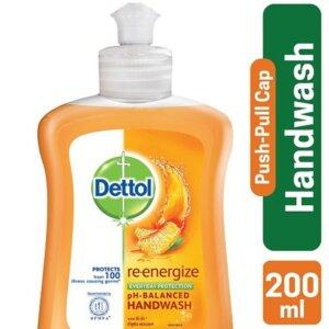 Dettol Handwash 200 ml Push Cap Re-energize_3