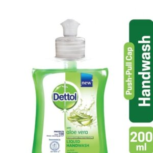 Dettol Handwash Aloe Vera 200ml Pump Liquid Soap Push Pull Cap