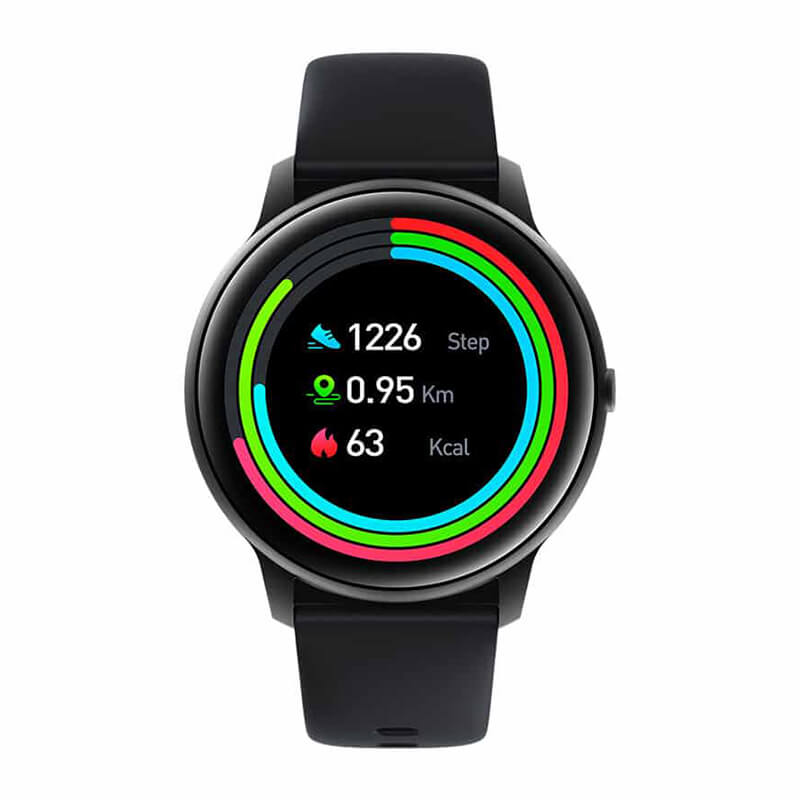 IMILAB Smart Watch KW66 3D HD Curved Screen With Extra Strap - Black