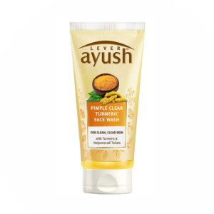 Lever Ayush Anti Pimple Turmeric Face Wash, 80g