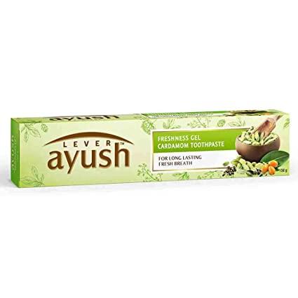 Lever Ayush Freshness Gel Cardamom Toothpaste - 80 gm