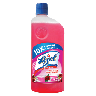 Lizol Floor Cleaner Floral Disinfectant Surface Cleaner - 500ml