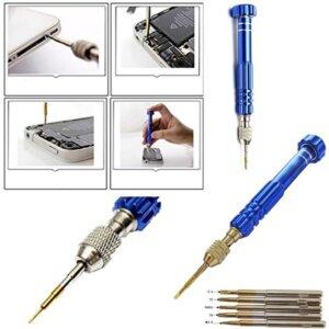 Magnetic 5 in1 Penta Lobe Screwdriver Repair Tool Set