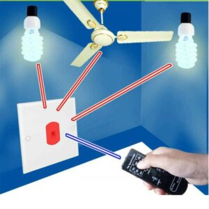 Remote Control Electric Switch Light & Fan Speed Regulator