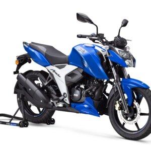 TVS Apache 4V 6 Blue