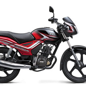 TVS Metro Plus Black Red
