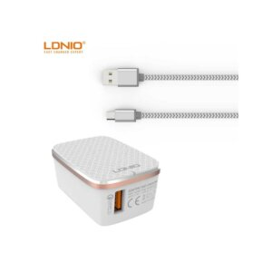 LDNIO Quick Charge 3A Charger with Type-C Cable EU (A1204Q)