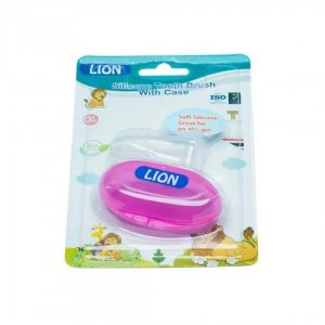 Lion Silicone Tongue & Tooth Brush With Case 1pc Blister Card