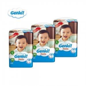 Genki! Pant Diaper L 50 Pcs (9-14) KG Malaysia