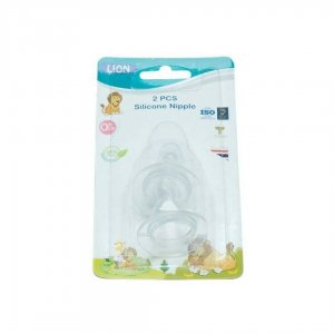 Lion 2Pcs Silicone Standard Nipple In Blister Card