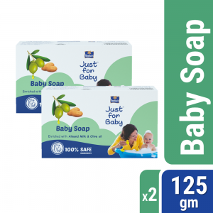 Parachute Just for Baby - Baby Soap 125g Pack of 2 Combo (125g x 2)