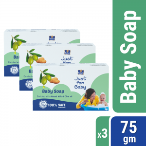 Parachute Just for Baby - Baby Soap 75g Pack of 3 Combo (75g x 3)